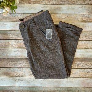 New Free People Brown Wool Blend Pants